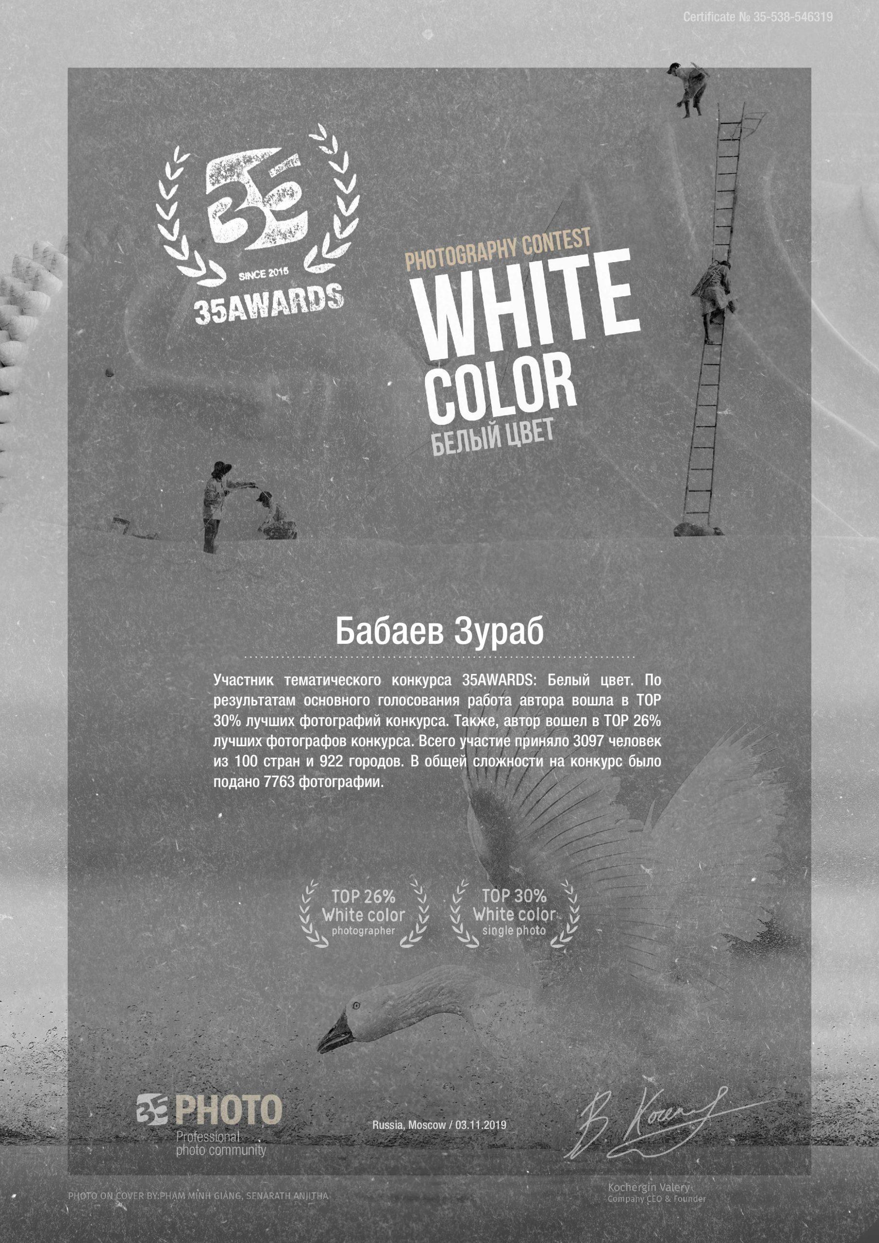 35awards Белый цвет